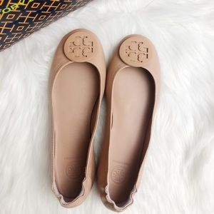 Tory Burch Minnie Nude Ballet Flats. Size 7.5